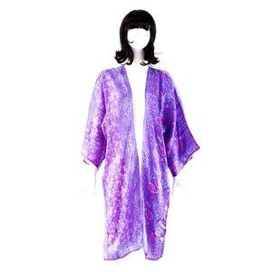 VTG 70's ZODIAC India Hand Blocked Kimono    BOUTI